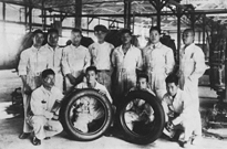 The first domestically produced tire (May 1930)
